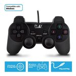 Play PL3330 game controller Gamepad PC Zwart